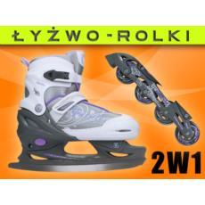 Łyżworolki 2w1 rolki + łyżwy Nils Extreme FIGUROWE