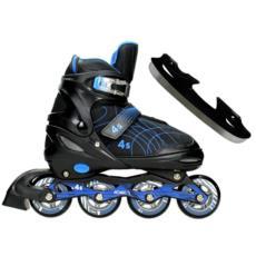 Łyżworolki regulowane 2w1 4S Blue Hockey